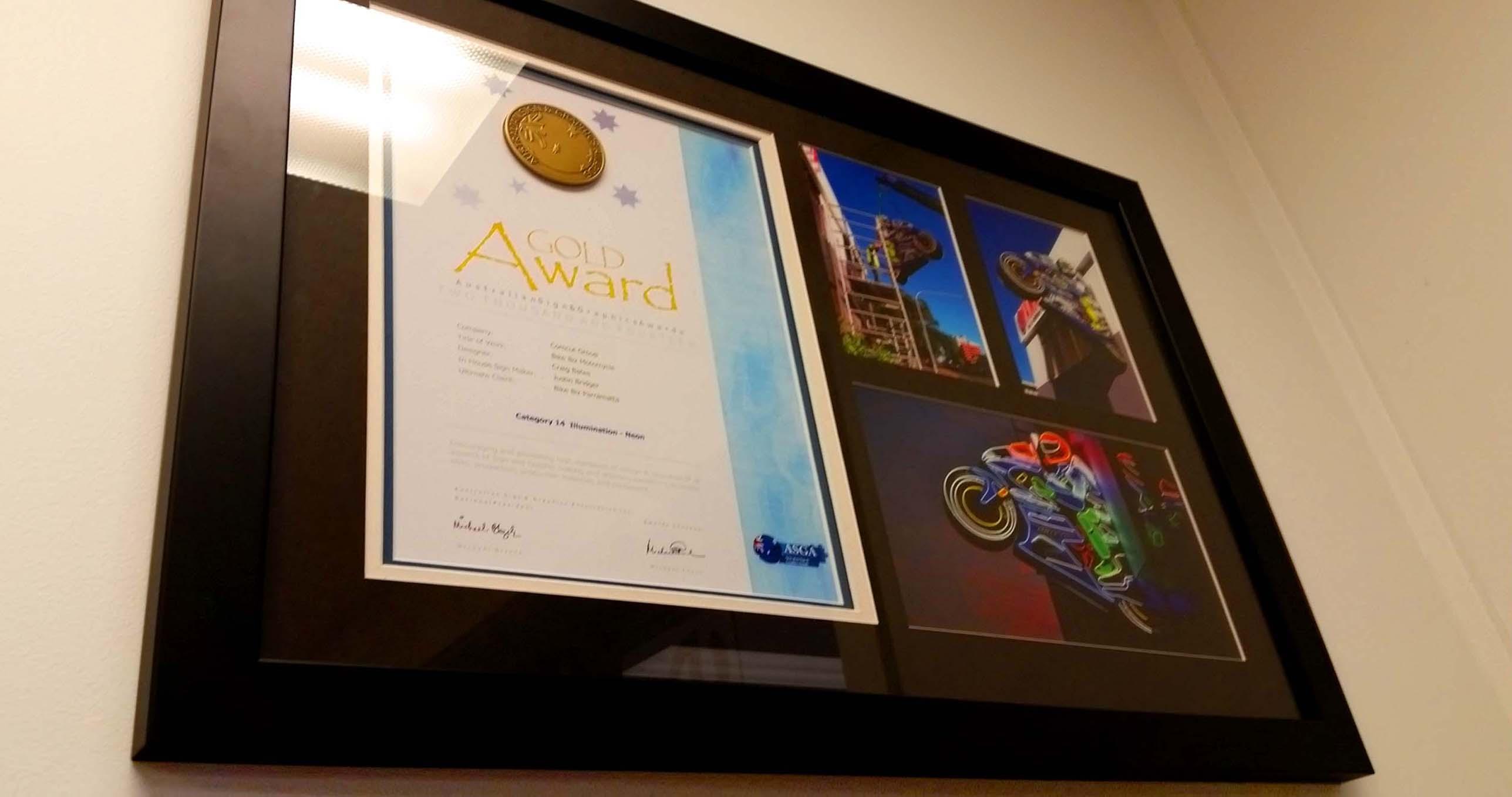 2-Gold-award-frame