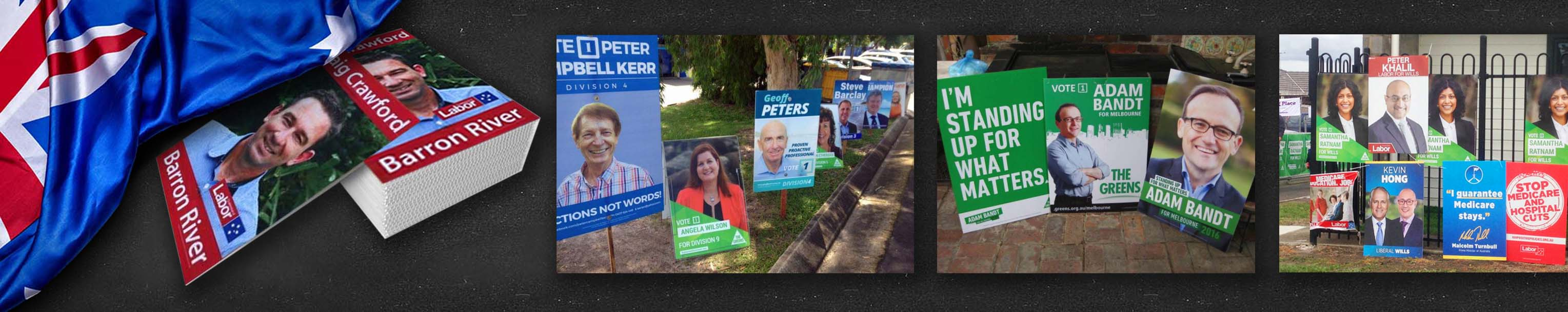 Election Corflute Signs